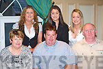 Adrian Fleming Tralee Road, Castleisland celebrates his 30th birthday with his family in the River Island Hotel, Castleisland on Friday night front row l-r: Josephine, Adrian, Tim. Back row: Joanne, Jacqueline and Juliet Fleming   Copyright Kerry's Eye 2008