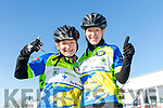 Enjoying the The Fenit Coastal Cycle in aid of St. Brendan's National School on Saturday were Aoife O'Connor and Lesley Hunt