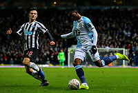 Blackburn Rovers' Amari'i Bell takes on Newcastle United's Jamie Sterry<br /> <br /> Photographer Alex Dodd/CameraSport<br /> <br /> Emirates FA Cup Third Round Replay - Blackburn Rovers v Newcastle United - Tuesday 15th January 2019 - Ewood Park - Blackburn<br />  <br /> World Copyright © 2019 CameraSport. All rights reserved. 43 Linden Ave. Countesthorpe. Leicester. England. LE8 5PG - Tel: +44 (0) 116 277 4147 - admin@camerasport.com - www.camerasport.com