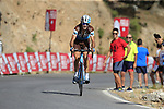 Ben Gastauer (LUX) AG2R La Mondiale on the slopes of Sierra de la Alfaguara near the finish of Stage 4 of the La Vuelta 2018, running 162km from Velez-Malaga to Alfacar, Sierra de la Alfaguara, Andalucia, Spain. 28th August 2018.<br /> Picture: Eoin Clarke | Cyclefile<br /> <br /> <br /> All photos usage must carry mandatory copyright credit (&copy; Cyclefile | Eoin Clarke)
