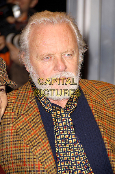 "SIR ANTHONY HOPKINS.""The Bank Job"" - UK film premiere.Odeon West End, London, England..February 18th, 2008   .headshot portrait beard facial hair .CAP/CAS.©Bob Cass/Capital Pictures."