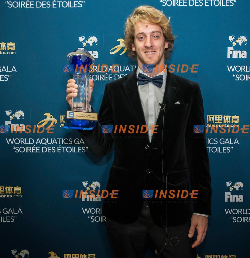 Gary Hunt<br /> FINA 4th World Aquatics Convention<br /> Athlete of the Year<br /> Windsor  Dec. 4th, 2016<br /> Caesar's Casino - Windsor Ontario Canada CAN <br /> 20161204 Caesar's Casino - Windsor Ontario Canada CAN <br /> Photo &copy; Giorgio Scala/Deepbluemedia/Insidefoto