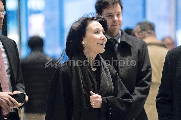 Safra Catz, CEO of Oracle, is seen upon her arrival at Trump Tower in New York, NY, USA on December 14, 2016. Photo Credit: Albin Lohr-Jones/CNP/AdMedia