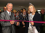 Rose of Tralee Elysha Brennan and Martin Newell (brother of Fr Eamonn Newell who the library is named after) open the new library at Gormanston College.<br /> <br /> Photo: Jenny Matthews