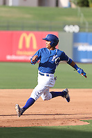 Cristhian Vasquez (44) of the AZL Royals runs the bases during a game against the AZL Mariners at Surprise Stadium on July 4, 2015 in Surprise, Arizona. Mariners defeated the Royals, 7-4. (Larry Goren/Four Seam Images)
