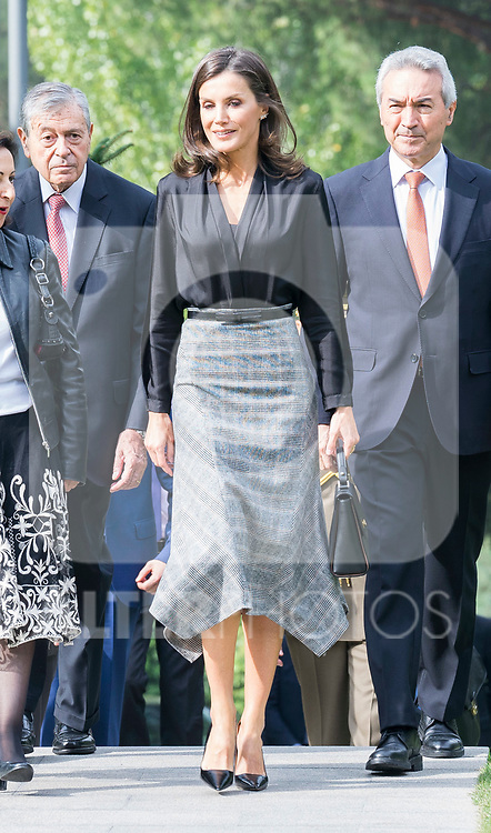 Defense Minister Margarita Robles and Queen Letizia (r) attend 'International Friendship Awards' in Madrid. October 09, 2019. (ALTERPHOTOS/ Francis Gonzalez)