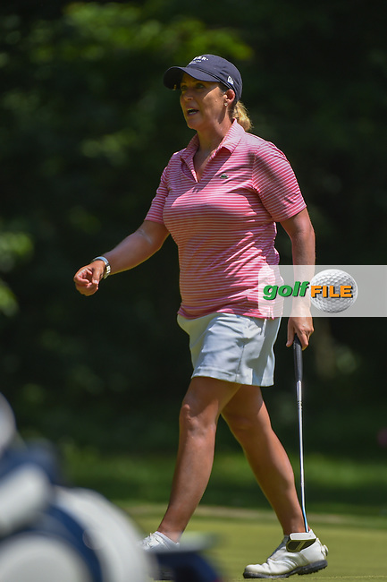 Cristie Kerr (USA) screams after missing her putt on 1 during round 4 of the U.S. Women's Open Championship, Shoal Creek Country Club, at Birmingham, Alabama, USA. 6/3/2018.<br /> Picture: Golffile   Ken Murray<br /> <br /> All photo usage must carry mandatory copyright credit (© Golffile   Ken Murray)