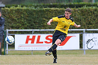 20190907 – PITTEM , BELGIUM : Egem's Lies Van Hamme pictured during a women soccer game between Dames DVK Egem  and Union Saint-Ghislain Tertre-Hautrage  on the second round matchday of the Belgian Women's Cup – Beker van Belgie -  season 2019-2020 , saturday 7th September  2019  in Pittem  , Belgium  .  PHOTO SPORTPIX.BE | DAVID CATRY