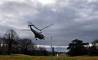 United States President Donald J. Trump departs via Marine One for a day trip to Charlotte, North Carolina at the White House in Washington, D.C. on Friday, February 7, 2020. <br /> Credit: Kevin Dietsch / Pool via CNP/AdMedia