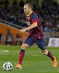 FC Barcelona's Andres Iniesta during La Copa match.February 12,2014. (ALTERPHOTOS/Mikel)