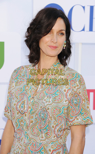 Carrie-Anne Moss.CBS, CW, Showtime 2012 Summer TCA Party held at The Beverly Hilton Hotel, Beverly Hills, California, USA..July 29th, 2012.half length dress white blue pink paisley print turquoise .CAP/ROT/TM.©Tony Michaels/Roth Stock/Capital Pictures
