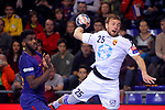 VELUX EHF 2017/18 EHF Men's Champions League Group Phase - Round 11.<br /> FC Barcelona Lassa vs HC Vardar: 29-28.<br /> Dika Mem vs Luka Cindric.