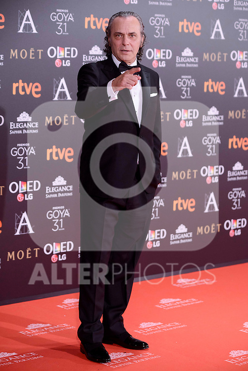 Jose Coronado attends to the Red Carpet of the Goya Awards 2017 at Madrid Marriott Auditorium Hotel in Madrid, Spain. February 04, 2017. (ALTERPHOTOS/BorjaB.Hojas)