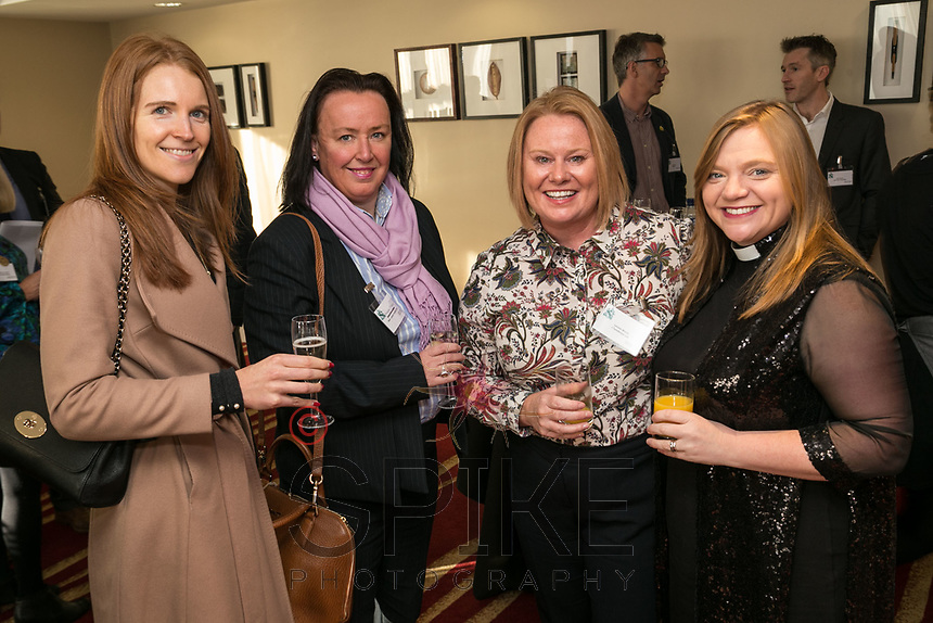 Left to right are Kirsty Edwards and Amanda Fletcher both from Notts County FC, Louise Morris of J Tomlinson and the Rev Kate Bottley