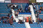 ***BETALBILD***  <br /> Stockholm 2015-09-04 Ishockey CHL Djurg&aring;rdens IF - EV Zug :  <br /> Djurg&aring;rdens supportrar och tomma stolar under matchen mellan Djurg&aring;rdens IF och EV Zug <br /> (Foto: Kenta J&ouml;nsson) Nyckelord:  Ishockey Hockey CHL Hovet Johanneshovs Isstadion Djurg&aring;rden DIF Zug supporter fans publik supporters
