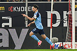 15.02.2020, Merkur Spiel-Arena, Duesseldorf, GER, 1. BL, Fortuna Duesseldorf vs. Borussia Moenchengladbach, DFL regulations prohibit any use of photographs as image sequences and/or quasi-video<br /> <br /> im Bild / picture shows: Lars Stindl (#13, Borussia Moenchengladbach) jubelt nach seinem Tor zum 1:2<br /> <br /> Foto © nordphoto/Mauelshagen
