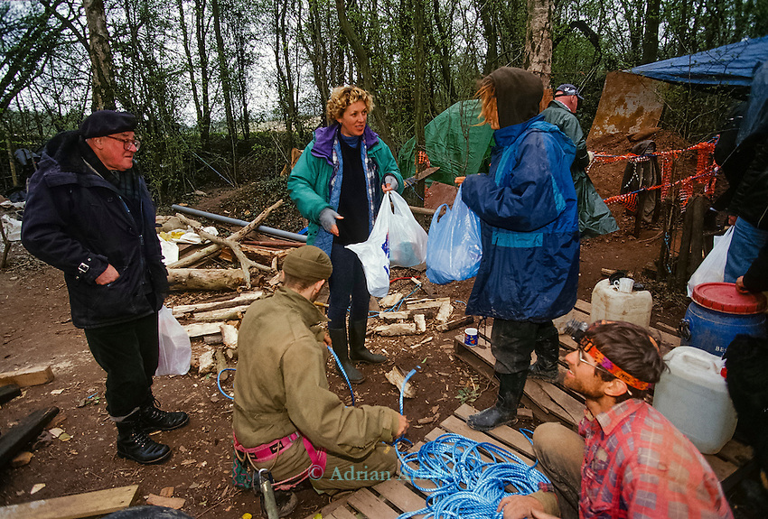 Woodland protest camp.   Manchester airport  second runway protest.