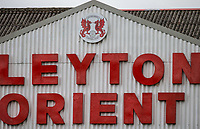 The Leyton Orient sign in the Stadium ahead of the Sky Bet League 2 match between Leyton Orient and Wycombe Wanderers at the Matchroom Stadium, London, England on 1 April 2017. Photo by Andy Rowland.