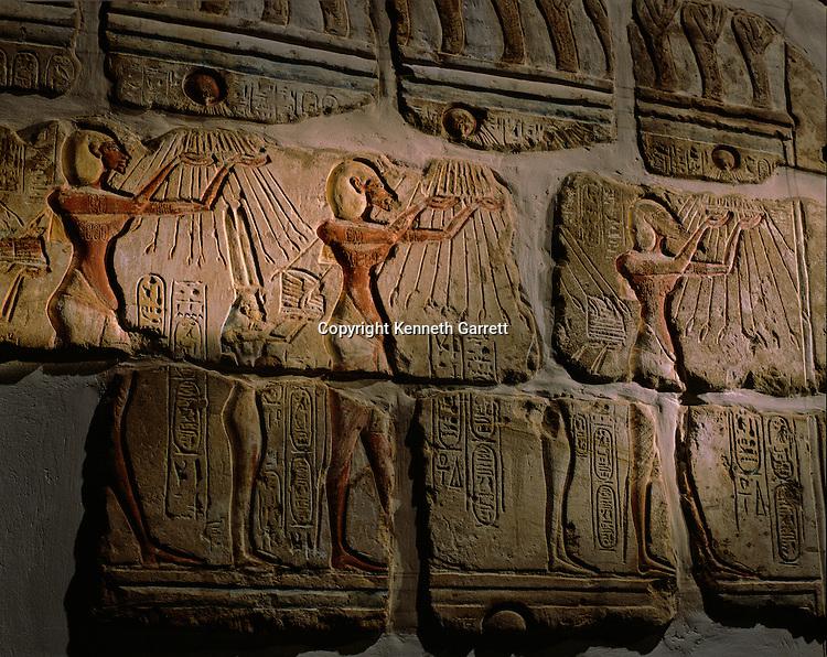 Egypt; Amarna; Pharaohs of the Sun; mm6714; Archaeology; Akhenaten; Nefertiti; Luxor Museum; Talatat; Blocks