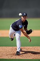 New York Yankees pitcher Glenn Otto (39) delivers a pitch during a Florida Instructional League game against the Philadelphia Phillies on October 11, 2018 at Yankee Complex in Tampa, Florida.  (Mike Janes/Four Seam Images)