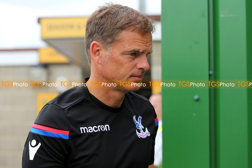 Crystal Palace Manager, Frank De Boer arrives at the ground during Maidstone United  vs Crystal Palace, Friendly Match Football at the Gallagher Stadium on 15th July 2017