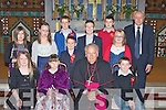 Knockanes NS pupils who were confirmed at St Agatha's church Glenflesk on Thursday front row l-r: Saoirse Kelly, Aoife Fleming, Bishop Bill Murphy, Damian Murphy. Back row: Sarah Corsini, Nicole Donnelly, Cian Fleming, Shane Courtney, Brendan Wall, Stephen Doherty, Emma Lenihan and Danny Doherty Principal