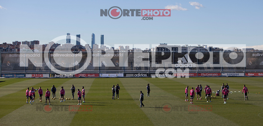 Real Madrid soccer team during a sesion training at Real Madrid City in Madrid. January 23, 2015. (ALTERPHOTOS/Caro Marin) /NortePhoto<br /> NortePhoto.com