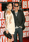 New York, New York  - September 13: Marc Anthony and Jennifer Lopez arrive at the 2009 MTV Video Music Awards at Radio City Music Hall on September 13, 2009 in New York, New York.
