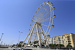 Ferris wheel at the port during Stage 1 of the La Vuelta 2018, an individual time trial of 8km running around Malaga city centre, Spain. 25th August 2018.<br /> Picture: Ann Clarke | Cyclefile<br /> <br /> <br /> All photos usage must carry mandatory copyright credit (© Cyclefile | Ann Clarke)