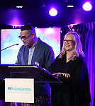 Ed Sylvanus Iskander and Susan Stroman during the SDC Foundation Awards on October 30, 2017 at The Green Room 42 in New York City.