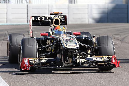 11.11.2011 Abu Dhabi, United Arab Emirates. Yas Marina Circuit, Romain Grosjean, Lotus Renault, .., during the practice day of the FIA Formula One Grand Prix of Abu Dhabi UAE.