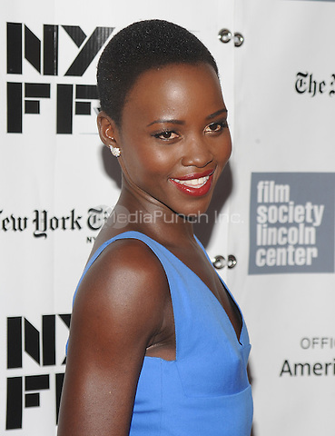 "NEW YORK, NY - OCTOBER 8: Lupita Nyong'o attends the ""12 Years A Slave"" premiere during the 51st New York Film Festival at Alice Tully Hall at Lincoln Center in New York City  on Oct 8,2013.Credit: John Palmer/MediaPunch"