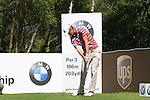 Chris Wood teeing off on  the 3rd during round three of the BMW PGA championship 2010 at Wentworth golf club, Surrey England..Picture Fran Caffrey/Newsfile.ie