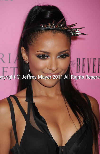 "LOS ANGELES, CA - MAY 12: Katerina Graham arrives to the Victoria's Secret 6th Annual ""What Is Sexy? List: Bombshell Summer Edition"" Pink Carpet Event at The Beverly on May 12, 2011 in Los Angeles, California."
