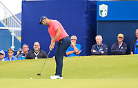 Jon Rahm (ESP) putts on the 18th green during Sunday's Final Round of the Dubai Duty Free Irish Open 2019, held at Lahinch Golf Club, Lahinch, Ireland. 7th July 2019.<br /> Picture: Eoin Clarke | Golffile<br /> <br /> <br /> All photos usage must carry mandatory copyright credit (© Golffile | Eoin Clarke)