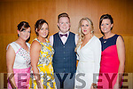 Socialites<br /> ------------<br /> Moyvane badminton club members attending the Kerry badminton annual social last Friday night in the Ballyroe Hts hotel were L-R Aoife Curtin,Denise Collins,Liam Corridan,Louise Beer and Michelle Corridan.