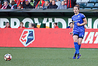 Portland, OR - Saturday May 06, 2017: Rachel Corsie during a regular season National Women's Soccer League (NWSL) match between the Portland Thorns FC and the Chicago Red Stars at Providence Park.