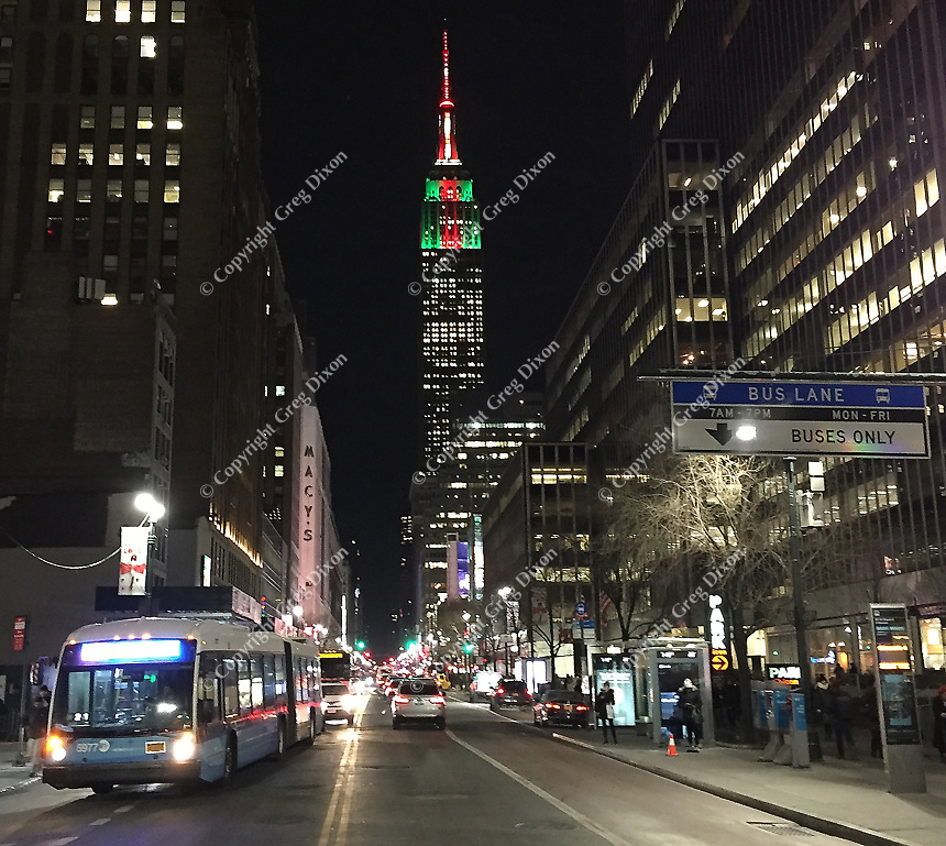 The Empire State Building is seen up 34th Street in Manhattan on 1/3/18, before the January blizzard