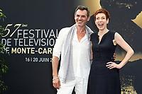 Jérôme BERTIN, Marie REACHE - Photocall 'PLUS BELLE LA VIE' - 57ème Festival de la Television de Monte-Carlo. Monte-Carlo, Monaco, 18/06/2017. # 57EME FESTIVAL DE LA TELEVISION DE MONTE-CARLO - PHOTOCALL 'PLUS BELLE LA VIE'