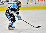21 February 2009: University of Maine Black Bears' forward Amy Stech, a Junior from Duluth, MN, in action against the University of Vermont Catamounts at Gutterson Fieldhouse in Burlington, Vermont. The Catamounts shut out the Black Bears 1-0. Mandatory Photo Credit: Ed Wolfstein Photo