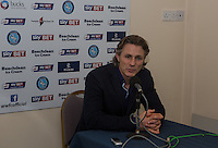 Wycombe Wanderers Manager Gareth Ainsworth gives a post match interview during the Sky Bet League 2 match between Wycombe Wanderers and Oxford United at Adams Park, High Wycombe, England on 19 December 2015. Photo by Andy Rowland.