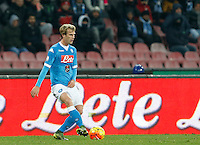 Napoli's Ivan Stric during the Quartef-final of Tim Cup soccer match,between SSC Napoli and vFC Inter    at  the San  Paolo   stadium in Naples  Italy , January 19, 2016