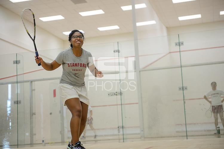 Stanford, California, 12-04-2013-  Theresa Shropshire of Stanford Squash 2013.