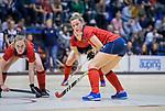 ROTTERDAM  - NK Zaalhockey . finale dames hoofdklasse: hdm-Laren 2-1. hdm landskampioen. Lieke van Wijk (Lar) met links Elin van Erk (Lar)     COPYRIGHT KOEN SUYK