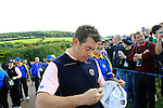 Lee Westwood signs autographs during Practice Day 3 of the The 2010 Ryder Cup at the Celtic Manor, Newport, Wales, 29th September 2010..(Picture Eoin Clarke/www.golffile.ie)