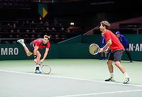 Februari 11, 2015, Netherlands, Rotterdam, Ahoy, ABN AMRO World Tennis Tournament, Marcel Granollers (ESP) / Marc Lopez (ESP)<br /> Photo: Tennisimages/Henk Koster