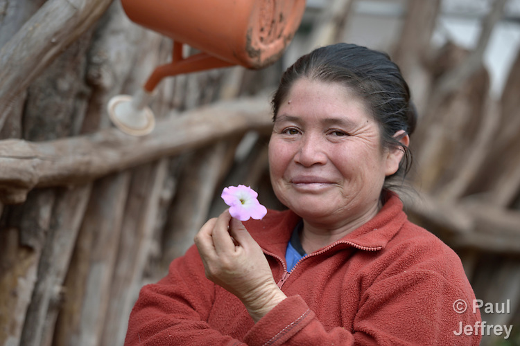 Rosa Antesano lives in the Guarani indigenous village of Choroquepiao, in the Chaco region of Bolivia. She and her neighbors started family gardens with assistance from Church World Service, supplementing their corn-based diet with nutritious vegetables and fruits.