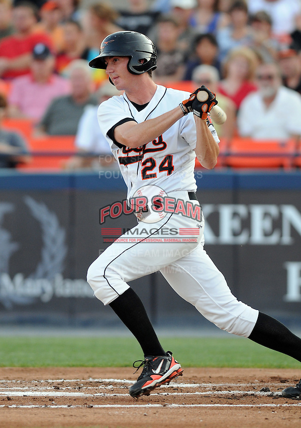 Ronnie Welty (24) of the Frederick Keys on July 23, 2010, at Harry Grove Stadium in Frederick, Md. Photo by: Tom Priddy/Four Seam Images