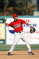 Matt Bush of the Lake Elsinore Storm during a California League baseball game on April 29, 2007 at The Diamond in Lake Elsinore, California. (Larry Goren/Four Seam Images)