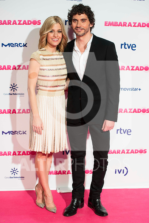 Alexandra Jimenez and Paco Leon attends to the premiere of the film &quot;Embarazados&quot; at Capitol Cinemas in Madrid, January 27, 2016.<br /> (ALTERPHOTOS/BorjaB.Hojas)